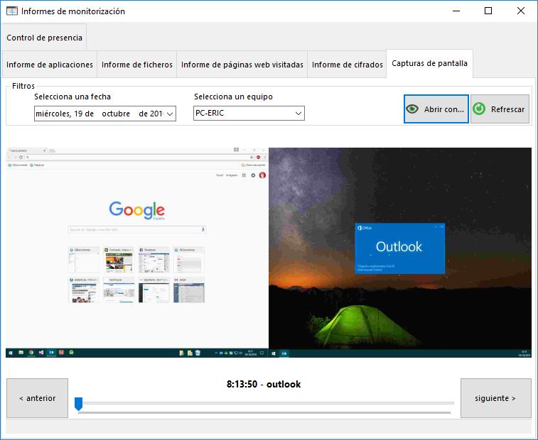 Genere capturas de pantalla de forma continua o en momentos específicos