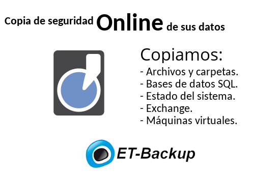 Backup online de sus datos