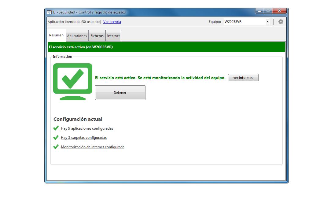 Et-Seguridad es muy fácil de configurar