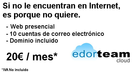 presencia en Internet y alojamiento web por 20€ al mes