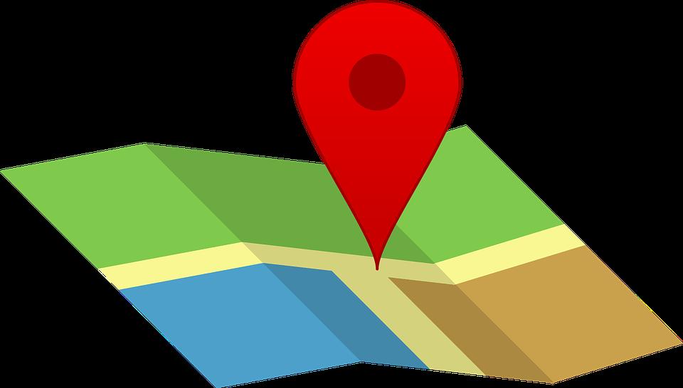presencia en Internet ubicado en el mapa